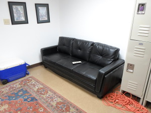 locker room couch