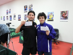 Chinoz Rojas, 3rd place; Gustavo Gutierrez, 2nd place