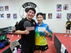 Chinoz Rojas, 2nd, Xiaomei  Ye, 1st.