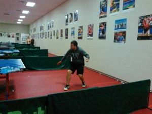 Gustavo fooling around chopping on his last official day at El Paso TT Club
