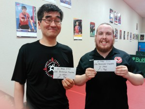 YJ Kim, second place Ronald Meeks, first place